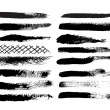 A collection of 12 natural brush strokes — Stock Vector