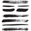 A collection of natural brush strokes — Stock Vector