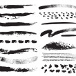 A collection of natural brush strokes - Imagen vectorial