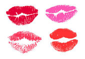 Collection print of lips — Stock Vector