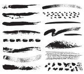 Una colección de trazos de pincel natural — Vector de stock