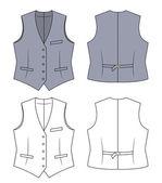 Woman grey waistcoat — Stock Vector