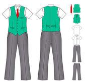 Man cashier or seller clothes — Stock Vector