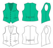Man green waistcoat — Stock Vector