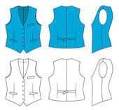 Woman blue waistcoat — Stock Vector