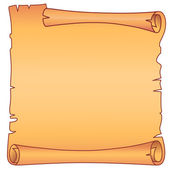 Parchment square scroll — Stock Vector