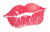 Print of lips — Vector de stock