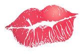 Utskrift av läppar — Stockvektor