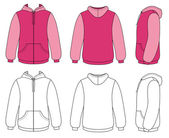 Unisex hoodie — Stock Vector