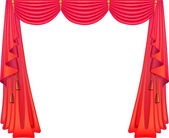 Scarlet curtains — Stock Vector