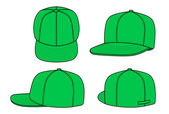 Green rap cap — Stock Vector