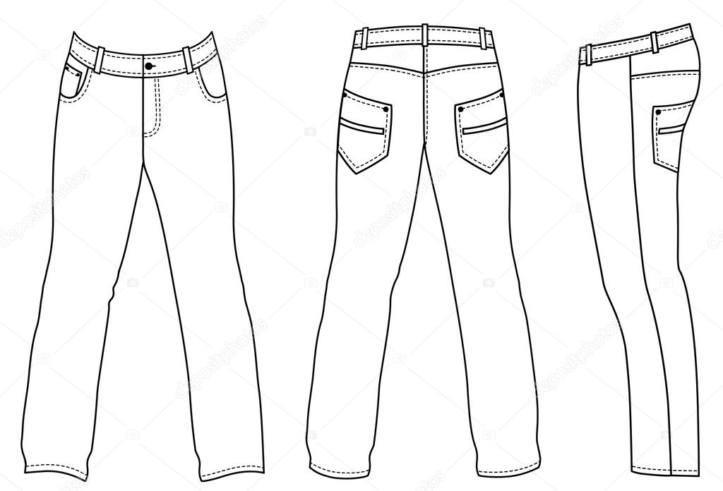 how to draw flds in pants