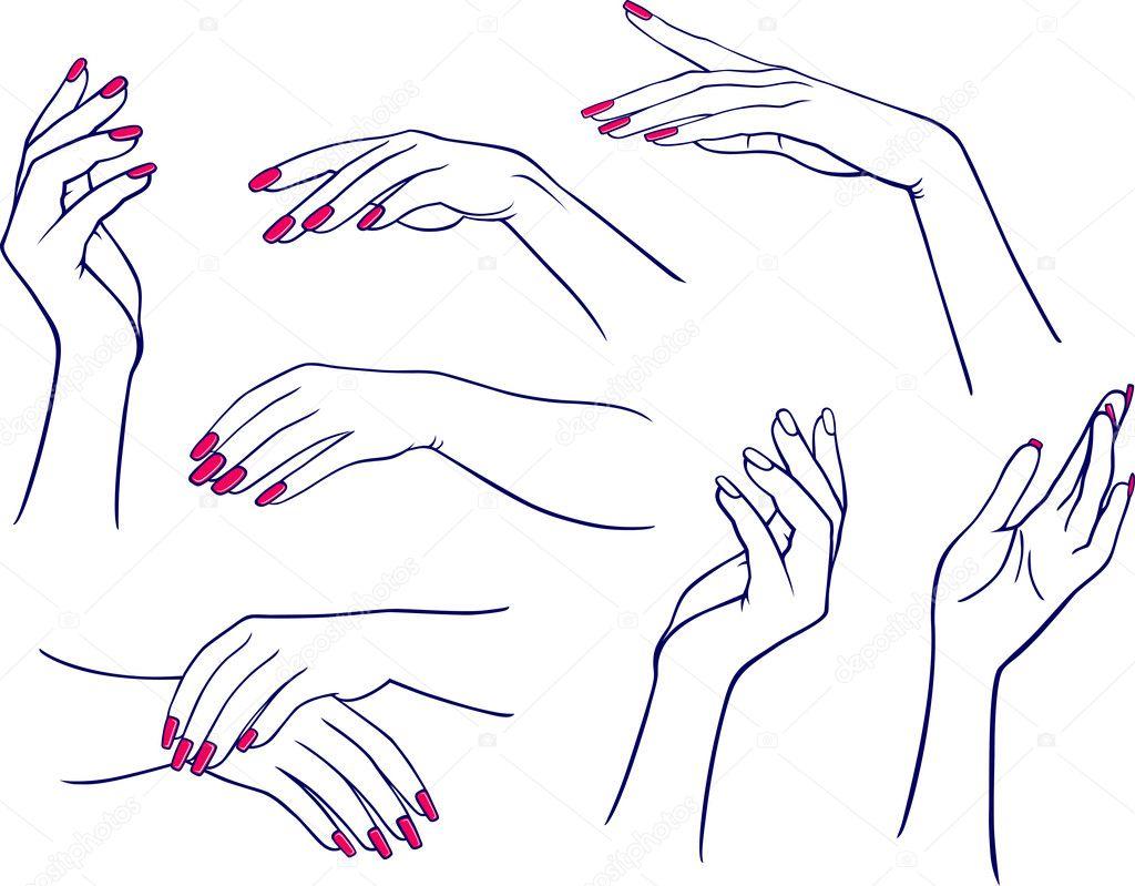 Как сделать положение рук слева