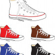 Sneakers (gumshoes) — Stock Vector