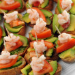 Sandwiches with shrimps — Stock Photo #6933227