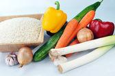 Reis und Gemüse — Stockfoto