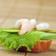 Stock Photo: Sandwich with shrimps