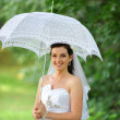 Royalty-Free Stock Photo: Bride with umbrella