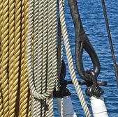 Ship ropes — Stock Photo