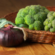 Stock Photo: Broccoli in basket