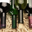 Royalty-Free Stock Photo: Wine bottles in straw