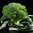 Stock Photo: Broccoli on black