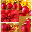 Collage of Christmas decorations - Stock Photo