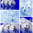 Collage of Christmas decorations - Foto Stock