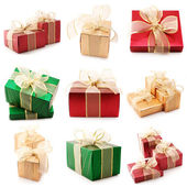 Set of various gifts — Stock Photo