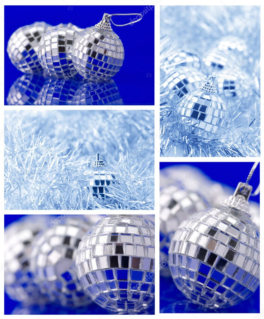 Collage of various Christmas decorations. — Stok fotoğraf #7628586