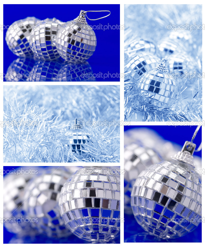 Collage of various Christmas decorations.   #7628586