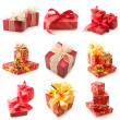 Set of various gifts — Stockfoto