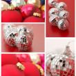 Collage of Christmas decorations — Stock fotografie