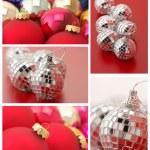 collage de adornos de Navidad — Foto de Stock