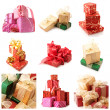 Stock Photo: Set of various gifts