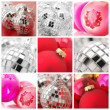 Collage of Christmas decorations - 图库照片