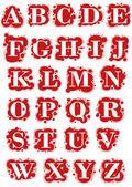 Drops-font — Stock Vector