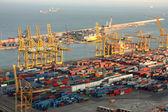 Industrial port of Barcelona — Stock Photo