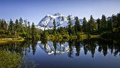 Mount Shuksan In Picture Lake — Stock Photo