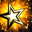 Gold star - Foto de Stock  