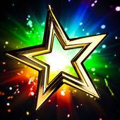 Estrella de oro — Foto de Stock