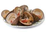 Plate of clams. — Stock Photo