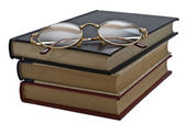Glasses on the book. — Stock Photo