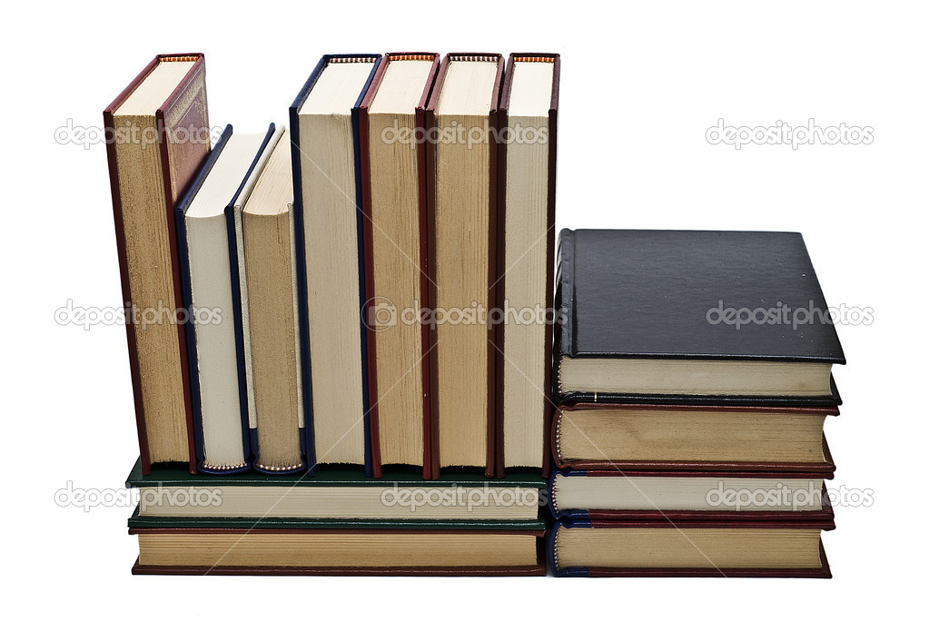 OLd books isolated over a white background. — Stock Photo #7106076