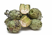 Artichokes isolated. — Stock Photo