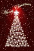 White Christmas tree. — Stock Photo