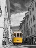 Tram in the center of Lisbon. — Stock Photo