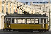 Tram in Comercio Place, Lisbon. — Stock Photo