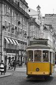 Yellow tram in Lisbon. — Stock Photo
