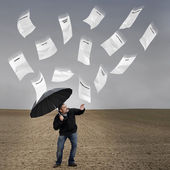Bills rain. — Stock Photo